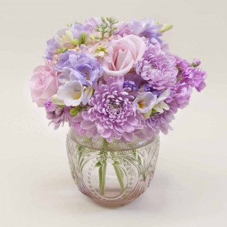 Pink Antique Vase Posy