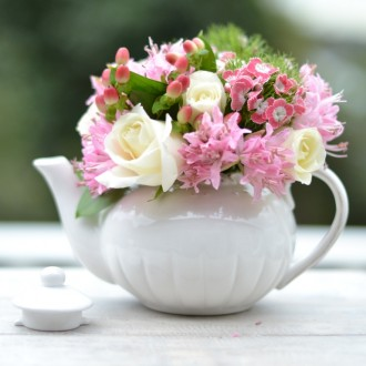 Posy in Tea Pot